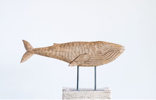 Hand Carved Wood Whale