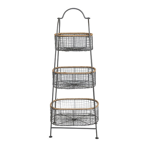 3 Tiered Stand w/ Removable Baskets