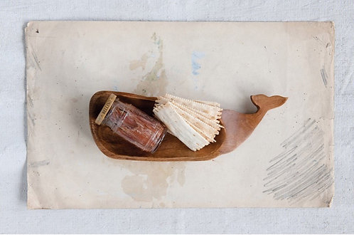 Acacia Wood Whale Dish