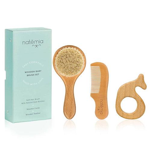 Wooden Brush & Comb Set