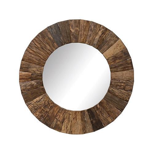 """Rustic 47"""" Wood Mirror"""