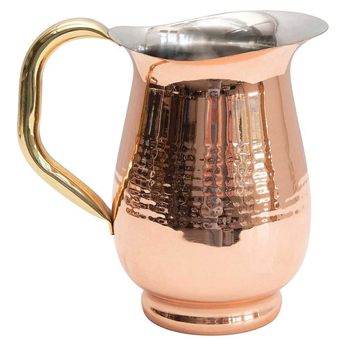 Copper and Brass Finish Pitcher