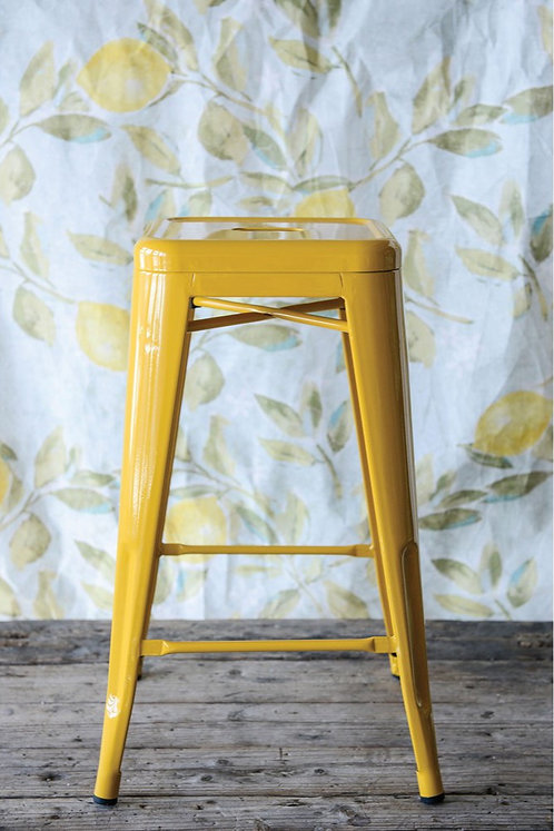 Yellow Metal Stool