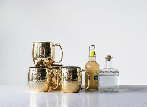 Gold Finish Moscow Mule Mugs