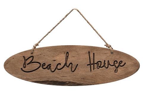 Oval Beach House Sign