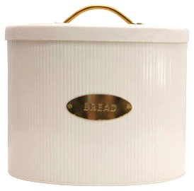Oval Metal Bread Box w/ Lid