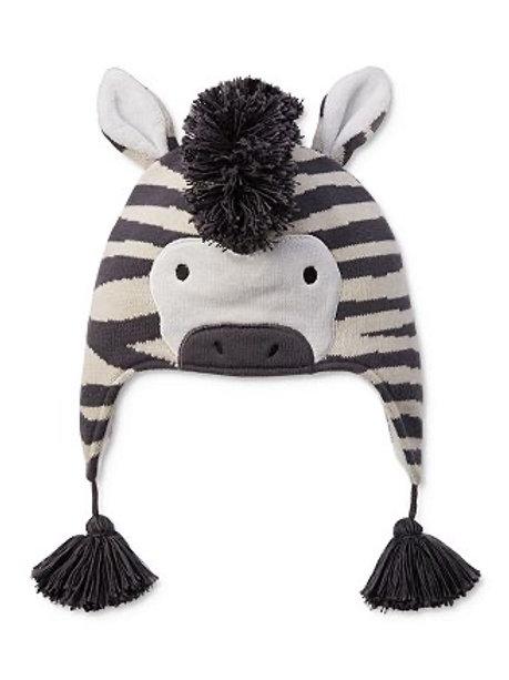 Zebra Knit Hat