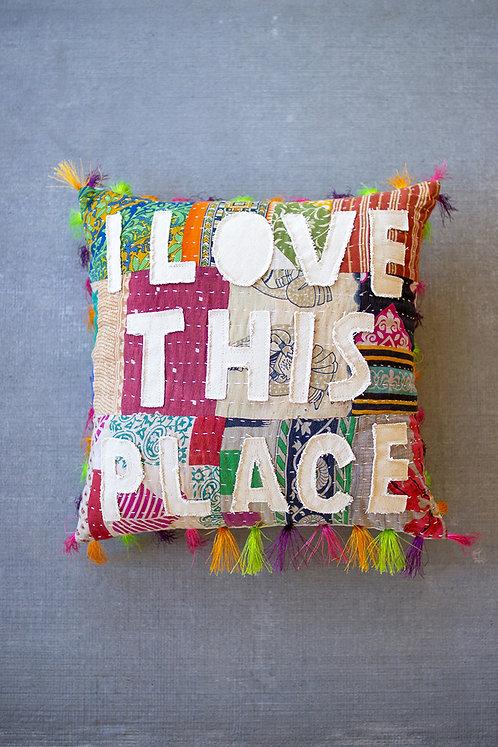 Patchwork Kantha Pillow