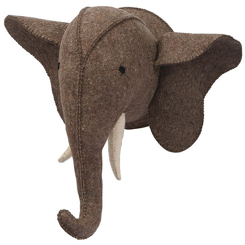 Felted Elephant Head Mount