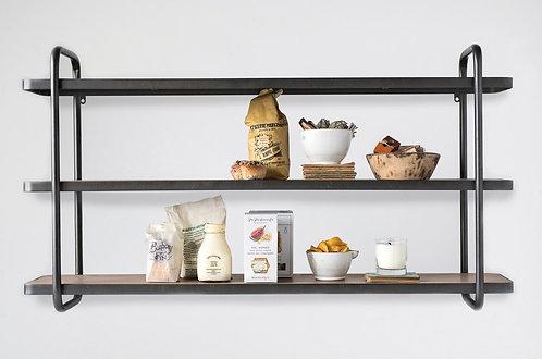 3 Tier Wood and Metal Shelves