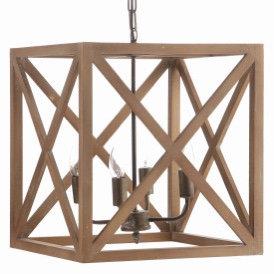 Wood Geometric Chandelier