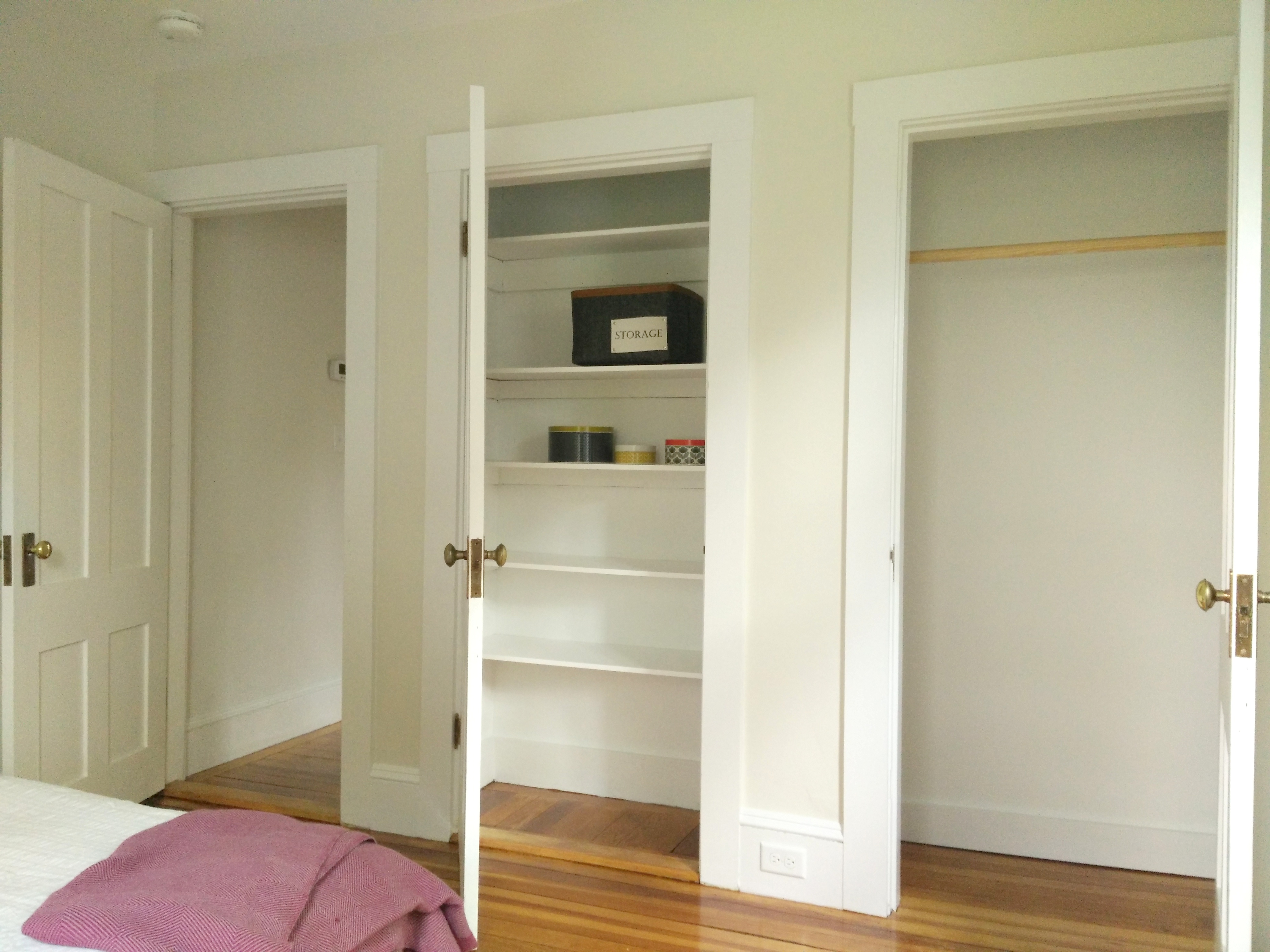 two closets are better than one!