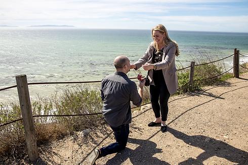 Katherine and Paul Proposal Rancho Palos
