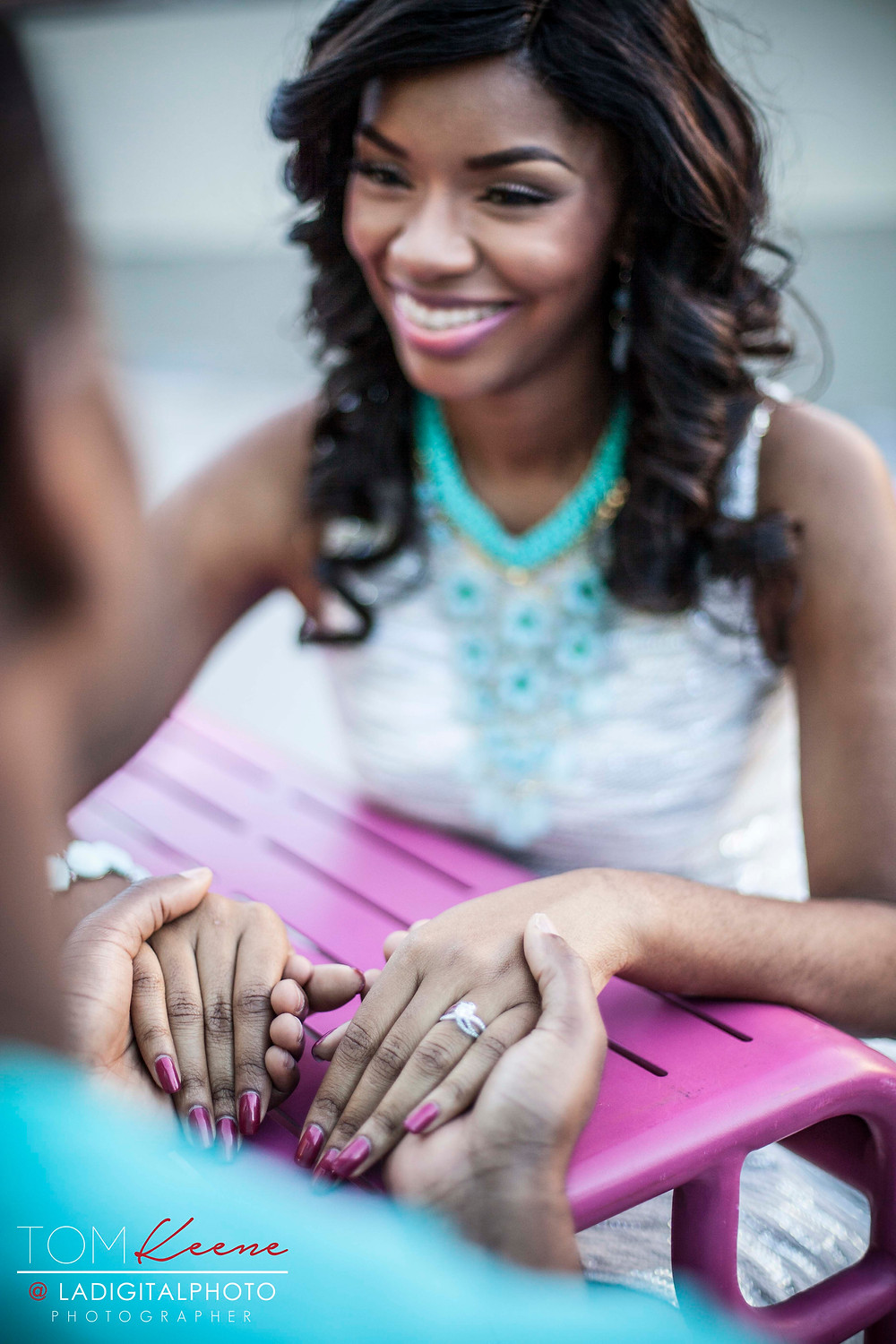 Downtown LA Grant Park Engagement Session by Tom Keene