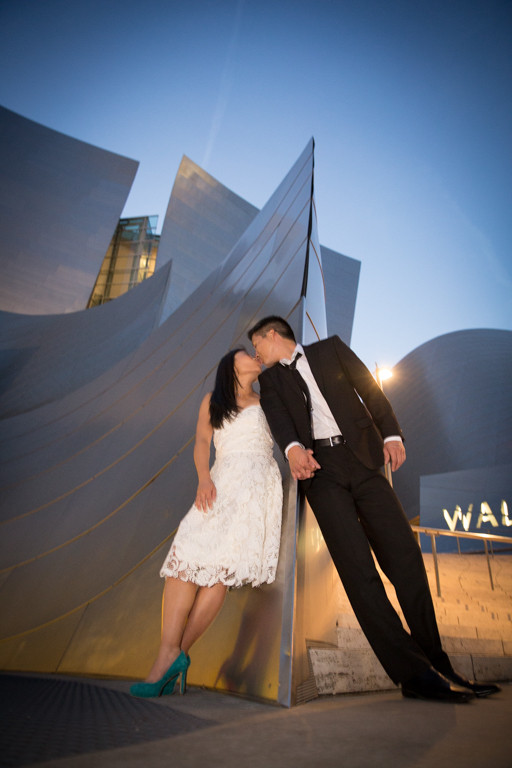 Downtown LA Walt Disney Music Hall Center Engagement Session by Tom Keene