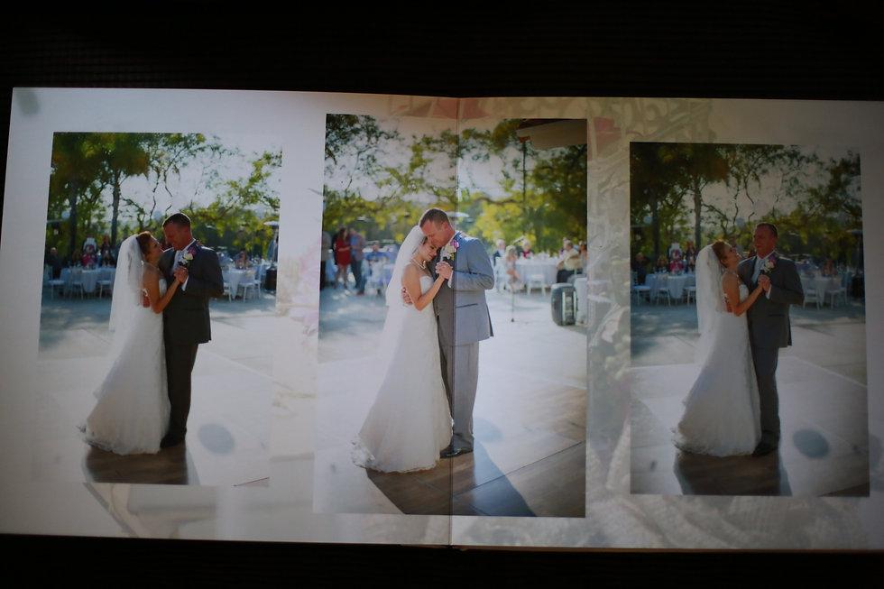 LAdigitalPhoto Tom Keene Leather bound Flush Mount wedding Album