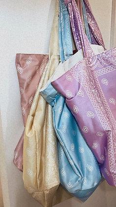 Cabas bandana rose