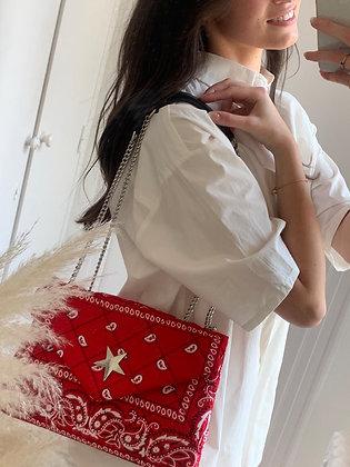 sac matelassé Brunild rouge