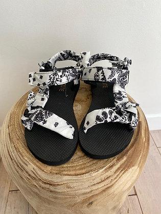 sandales Ari bandana blanches