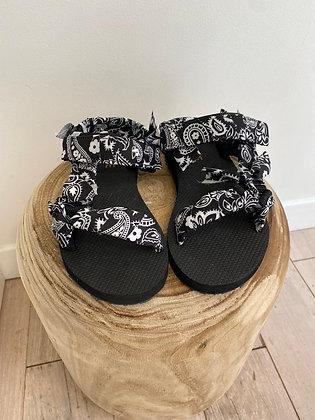 Sandales Ari bandana noires