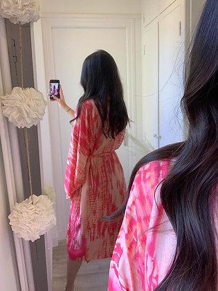 kimono Kristina rose tie and dye