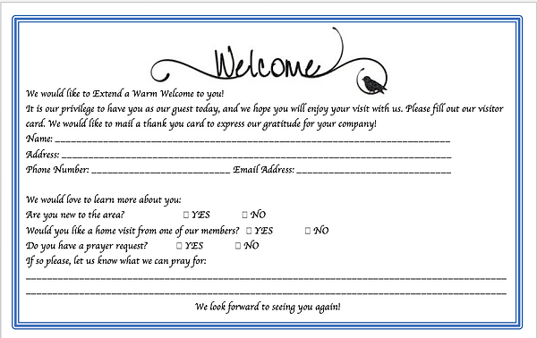 Visitor Card