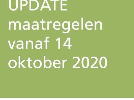 Aanscherping maatregelen vanaf 14 oktober 2020