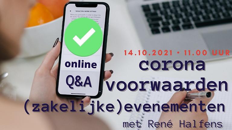 Q&A corona maatregelen rondom (zakelijke) evenementen