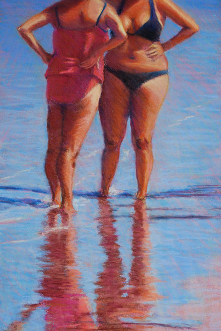 Beach Conversation by Terri Brooks