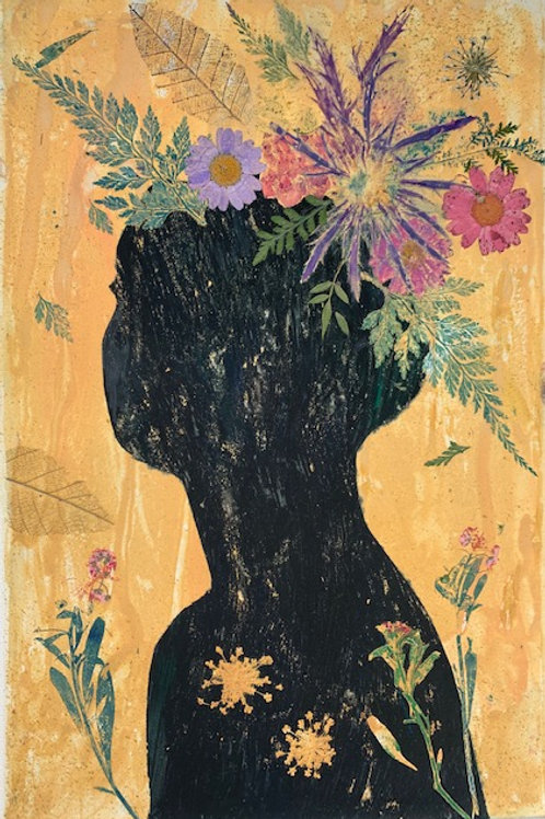 She Grew From The Earth I by Melanie Barash Levitt