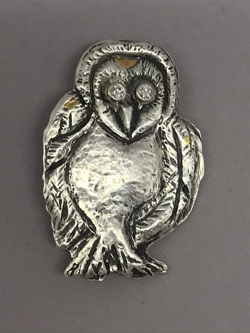Athena's Owl Brooch by Laura Guptill Jewelry