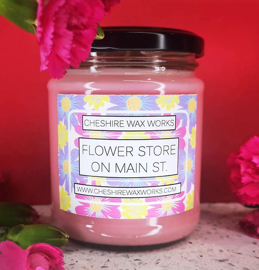 Flower Store on Main St. Candle