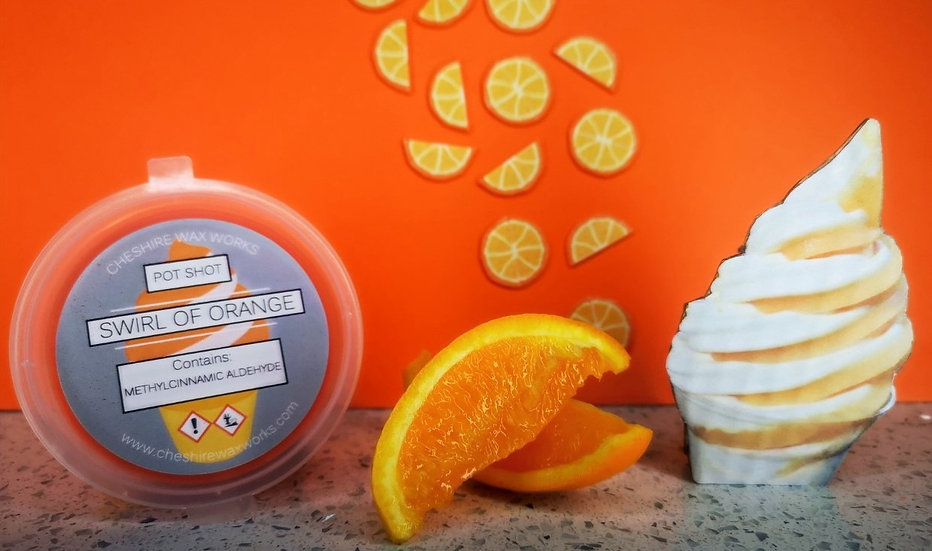 Swirl of Orange Pot Shot