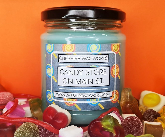 Candy Store on Main St. Candle