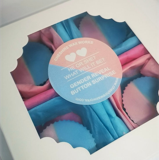 Gender Reveal Button Surprise - 4 Pack