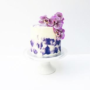Orchid Celebration Cake with Textured Buttercream