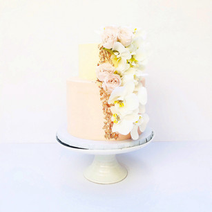 Orchid Two Tier Cake