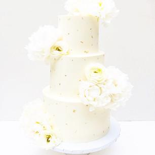 Three Tier White Celebration Cake