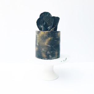 Black Galaxy Cake with Chocolate Sail