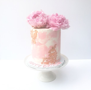 Textured Pink Watercolour Cake