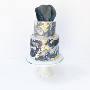 Textured 'Concrete' Cake