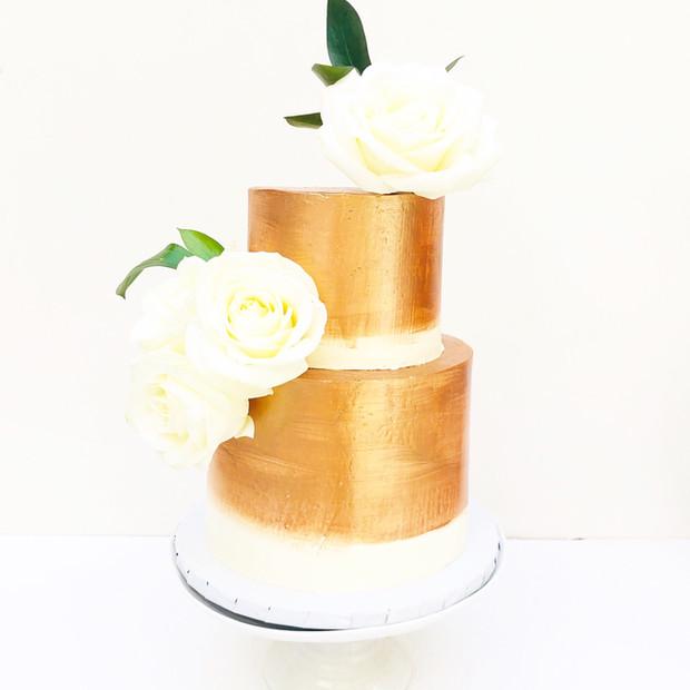 Brushed Rose Gold Celebration Cake