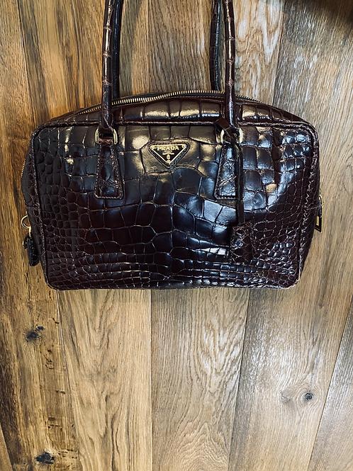 Prada Alligator Leder Handtasche