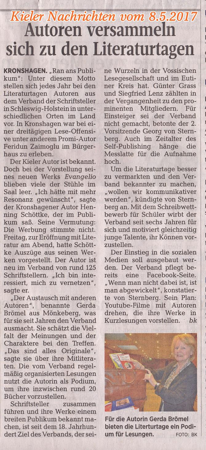 Kieler Nachrichten vom 8.5.2017
