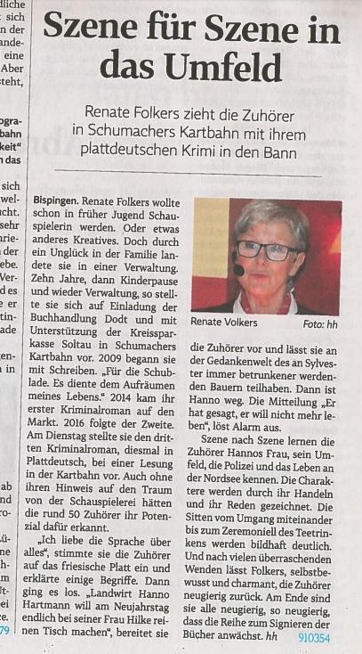 Interview mit Renate Folkers auf NDR