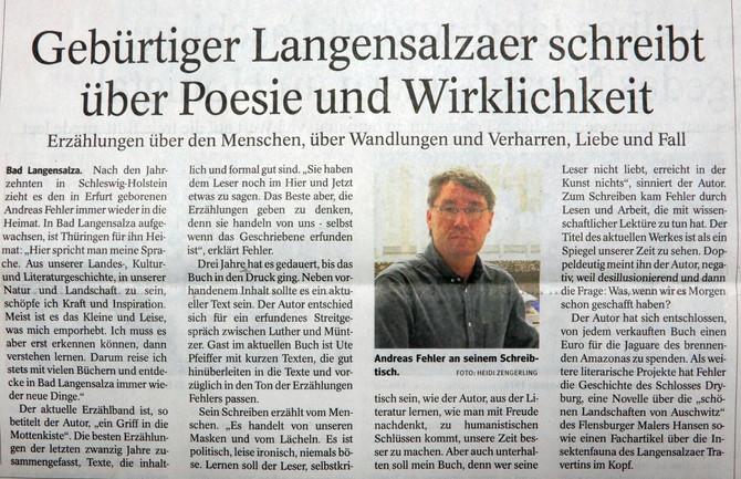 Andreas Fehler in der Presse