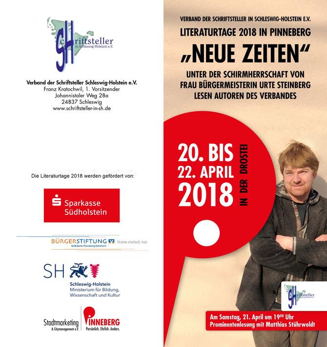 Literaturtage 2018 in Pinneberg