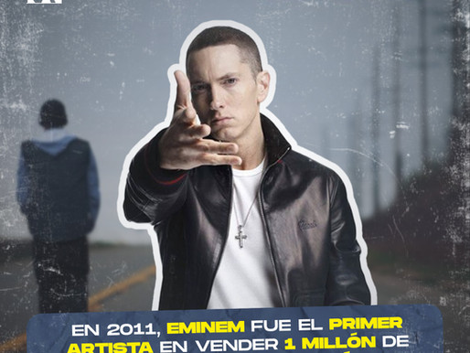 Eminem, el primer artista en vender un millón de copias digitales con un álbum en 2011.