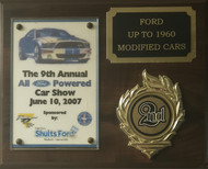 9th Annual All Ford Powered Car Show, 2nd Place (Ford up to 1960, Modified)
