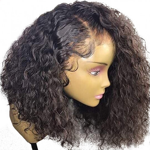 Pre Plucked Frontal Bob Wig Curly, Water Wavy or Natural Wavy